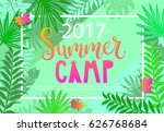 summer camp 2017 lettering on... | Shutterstock .eps vector #626768684
