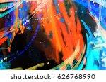 abstract watercolor texture.... | Shutterstock . vector #626768990