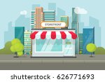 storefront in city vector... | Shutterstock .eps vector #626771693