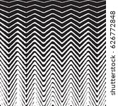 halftone zig zag pattern... | Shutterstock .eps vector #626772848