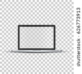 laptop without screen on...   Shutterstock .eps vector #626773913