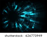 vector digital technology... | Shutterstock .eps vector #626773949