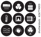 heating and cooling icons set.... | Shutterstock .eps vector #626774003