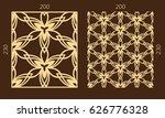 laser cutting set. woodcut... | Shutterstock .eps vector #626776328