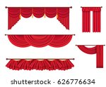 drape and lambrequins of heavy... | Shutterstock .eps vector #626776634