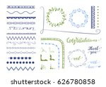 graphic set of different vector ... | Shutterstock .eps vector #626780858