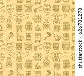 beekeeping seamless pattern... | Shutterstock .eps vector #626781278