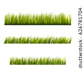 green grass borders set  vector ... | Shutterstock .eps vector #626781704