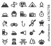 camping icons | Shutterstock .eps vector #626781758