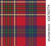 green red classic tartan check... | Shutterstock .eps vector #626783774