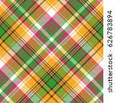 colors madras plaid textile... | Shutterstock .eps vector #626783894