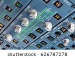 airbus a320 overhead panel with ... | Shutterstock . vector #626787278