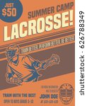 lacrosse flyer template summer... | Shutterstock .eps vector #626788349