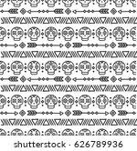 day of the dead. tribal hand... | Shutterstock .eps vector #626789936
