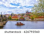 view of the prague castle and... | Shutterstock . vector #626793560