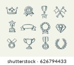 award doodle icons set of... | Shutterstock .eps vector #626794433