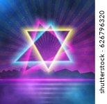 illustration of neon style... | Shutterstock . vector #626796320