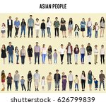 group of asian people set... | Shutterstock . vector #626799839