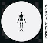 human skeleton icon. | Shutterstock .eps vector #626800328