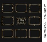 gold retro frames. style of... | Shutterstock .eps vector #626800649