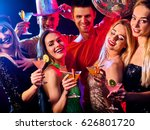 dance party with group people... | Shutterstock . vector #626801720