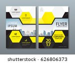 black yellow annual report... | Shutterstock .eps vector #626806373