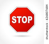 illustration of stop sign on... | Shutterstock .eps vector #626807684