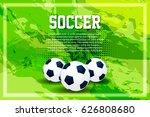 soccer ball poster  banner ... | Shutterstock .eps vector #626808680
