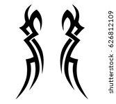 tribal tattoo art design... | Shutterstock .eps vector #626812109