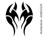 tattoo sketch tribal vector...   Shutterstock .eps vector #626812124