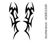 tattoo sketch tribal vector... | Shutterstock .eps vector #626812160