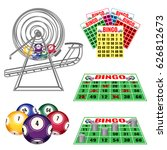 lottery machine with balls... | Shutterstock .eps vector #626812673
