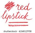 vector lettering and streaks in ... | Shutterstock .eps vector #626812958