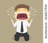 a businessman crying sad. vector | Shutterstock .eps vector #626817944
