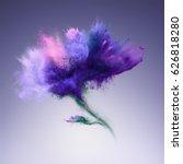 explosion of blue powder in... | Shutterstock . vector #626818280