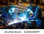 worker with protective mask... | Shutterstock . vector #626818859