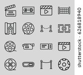 cinema icons set. set of 16... | Shutterstock .eps vector #626818940