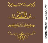 collection of vector dividers...   Shutterstock .eps vector #626820299