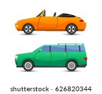 flat car vehicle type design... | Shutterstock .eps vector #626820344
