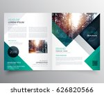 business bifold brochure or... | Shutterstock .eps vector #626820566