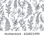 seamless pattern with hand... | Shutterstock .eps vector #626821490