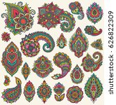 big vector set of colorful... | Shutterstock .eps vector #626822309