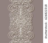 vintage lace border pattern ... | Shutterstock .eps vector #626822318