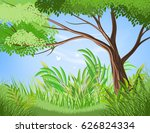 beautiful tree and lush foliage ... | Shutterstock .eps vector #626824334
