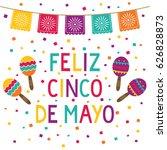 cinco de mayo vector card with... | Shutterstock .eps vector #626828873