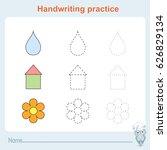 handwriting practice  games... | Shutterstock .eps vector #626829134