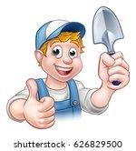 a cartoon gardener holding a... | Shutterstock .eps vector #626829500