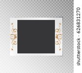 photo frame with a gold floral...   Shutterstock .eps vector #626831270