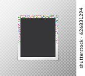 simple photo frame with...   Shutterstock .eps vector #626831294