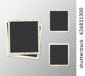 a set of festive photo frames... | Shutterstock .eps vector #626831300